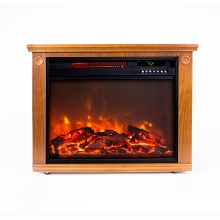LifeSmart Square Fireplace Heater Medium Oak, ZCFP1008US