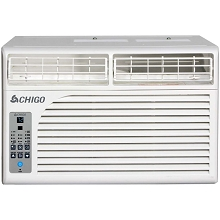 Chigo Energy Star 8,500 BTU Window Air Conditioner with MyTemp Remote Control in White, WC1-08E-02B