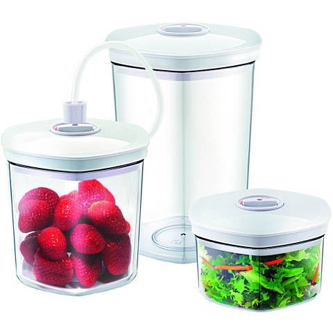 Caso Design Food Vacuum Canister Set with Food Management App, 11260