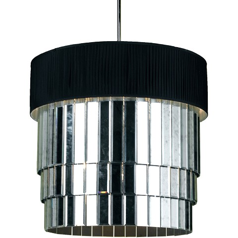 6740 6-Light Pendant- Black Shade