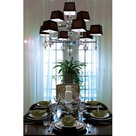 6760 9-Light Chandelier- Chocolate Shades