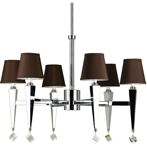 6779 6-Light Chandelier- Chocolate Shades