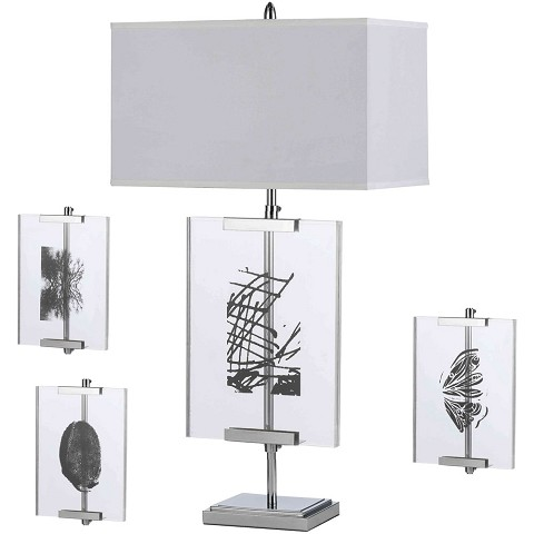 Easel Table Lamp with Interchange Panels - 8316-TL