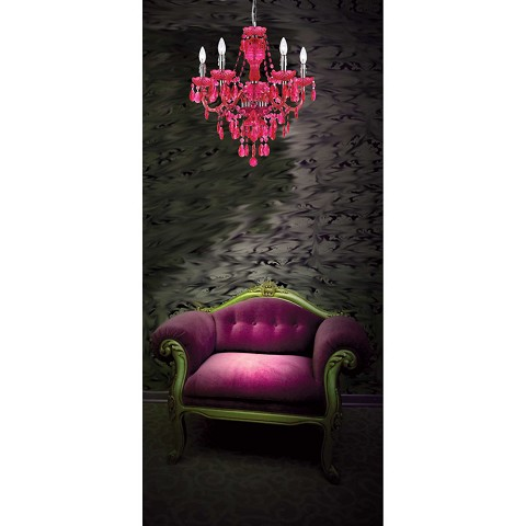 Fulton Five Light Chandelier in Pink - 8524-5H