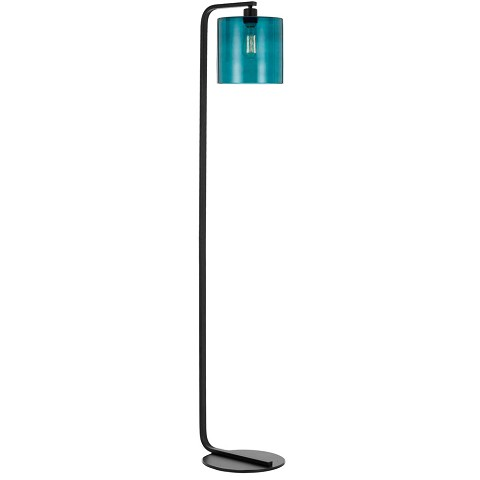 AF Lighting Lowell Floor Lamp with Teal Glass Globe - 9116-FL
