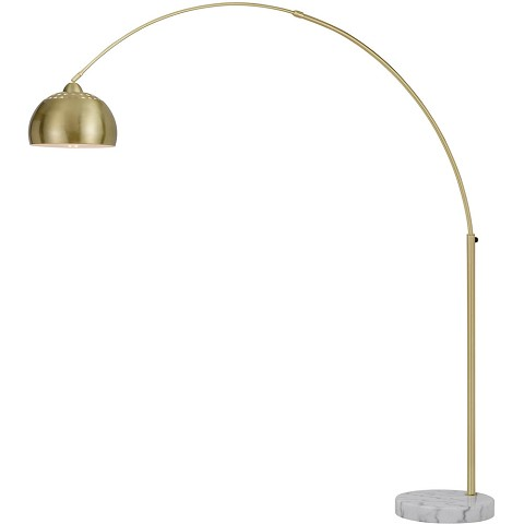 AF Lighting Orb Floor Lamp with Metal Globe in Brushed Gold - 9121-FL