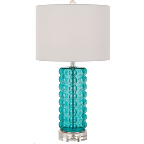 AF Lighting Fizz Table Lamp in Teal - 9126-TL