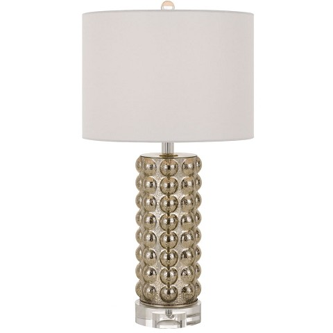 AF Lighting Fizz Table Lamp in Silver Mercury - 9128-TL