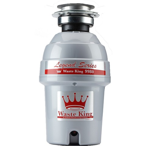 Waste King Legend Series 1.0 HP Professional 3-Bolt Mount Sound Insulated Garbage Disposer - 9980