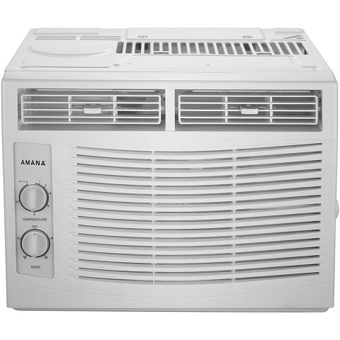 Amana 5,000 BTU 115V Window-Mounted Air Conditioner with Mechanical Controls - AMAP050BW
