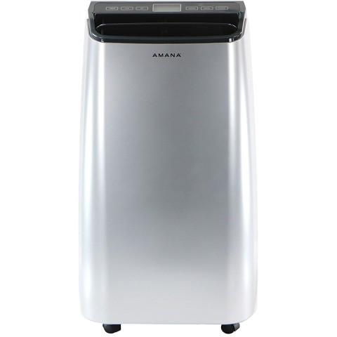 Amana 10,000 BTU Portable Air Conditioner with Remote Control in White/Gray - AMAP101AW