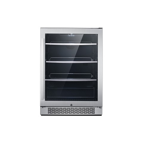 "Cambridge Luxury Series 24"" Single Zone Beverage Center with 152-Can Capacity and Door Lock, CCC60201-6SSL"