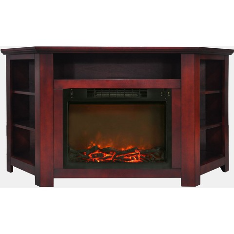 Cambridge Stratford 56 In. Electric Corner Fireplace in Cherry with 1500W Fireplace Insert - CAM5630-1CHR