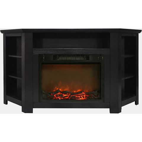 Cambridge Stratford 56 In. Electric Corner Fireplace in Black Coffee with 1500W Fireplace Insert - CAM5630-1COF