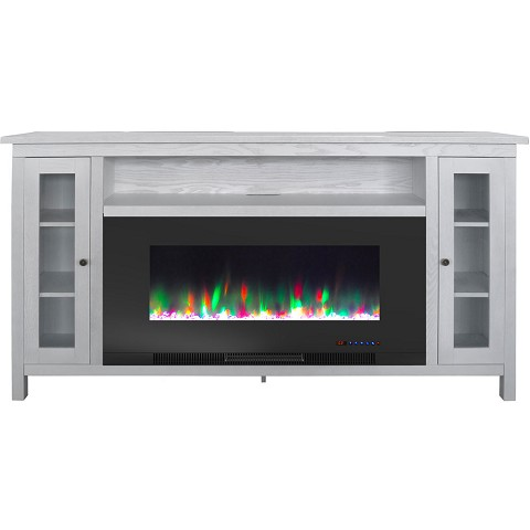 Cambridge Somerset 70 In White Electric Fireplace Tv Stand With