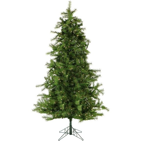Christmas Time 6.5-Ft. Colorado Pine Artificial Christmas Tree with Clear LED String Lighting - CT-CP065-LED