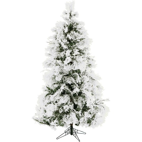 Fraser Hill Farm 6.5-Ft. Frosted Fir Snowy Artificial Christmas Tree - CT-FF065-NL