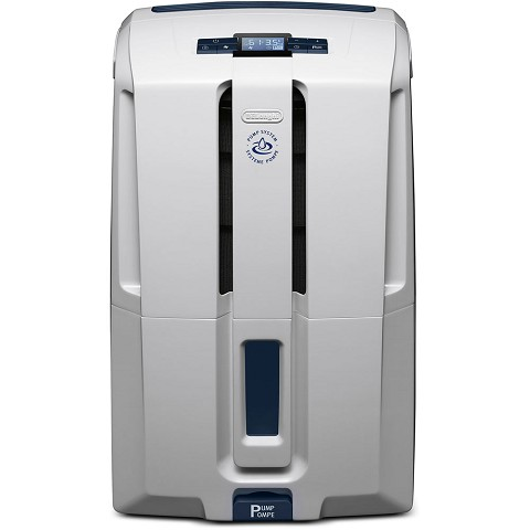 De'Longhi High Efficiency 45 Pint Dehumidifier with Pump and AAFA certification, DDX45PE