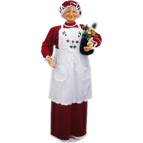 "Fraser Hill Farm 58"" Dancing Mrs. Claus with Apron - FAMC058D-27RED"