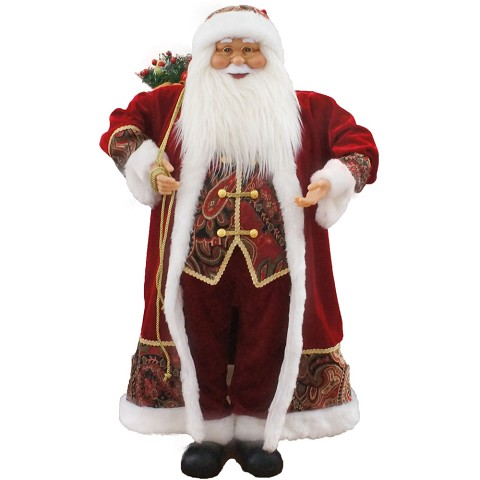 "Fraser Hill Farm 36"" Music and Motion Santa with Paisley Vest - FASC036M-10RED"