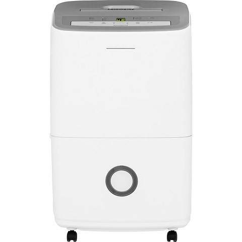 Frigidaire 50-Pint Dehumidifier with Effortless Humidity Control in White - FFAD5033R1