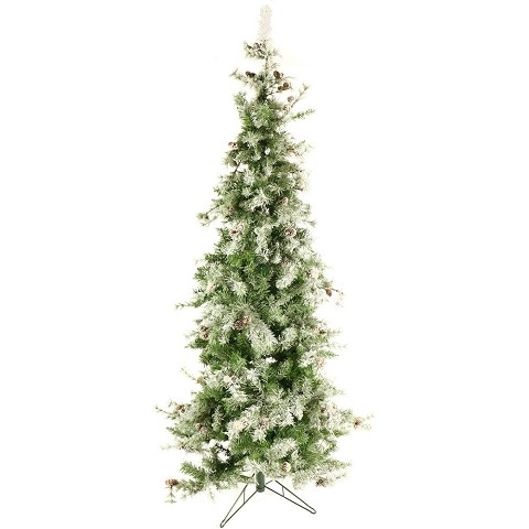 Fraser Hill Farm 7.5 Ft. Buffalo Fir Slim Artificial Christmas Tree with LED String Lighting - FFBF075-5SN
