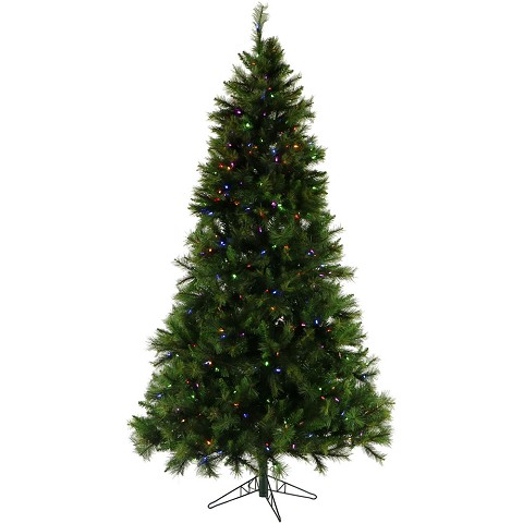 6.5 Ft. Canyon Pine Christmas Tree with Multi-Color LED String Lighting - FFCM065-6GR