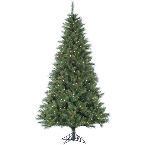 7.5 Ft. Canyon Pine Christmas Tree with Clear LED Lighting - FFCM075-5GR