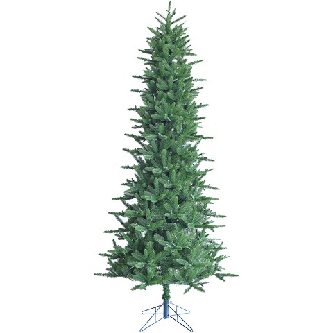 Fraser Hill Farm 6.5 Ft. Carmel Pine Slim Artificial Christmas Tree - FFCP065-0GR