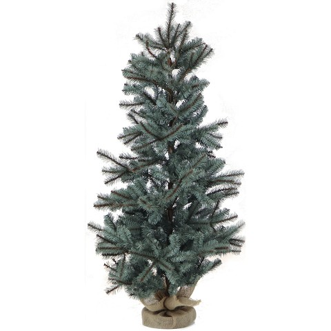 Fraser Hill Farm 4-Ft. Heritage Pine Artificial Tree with Burlap Base, FFHP056-0GR