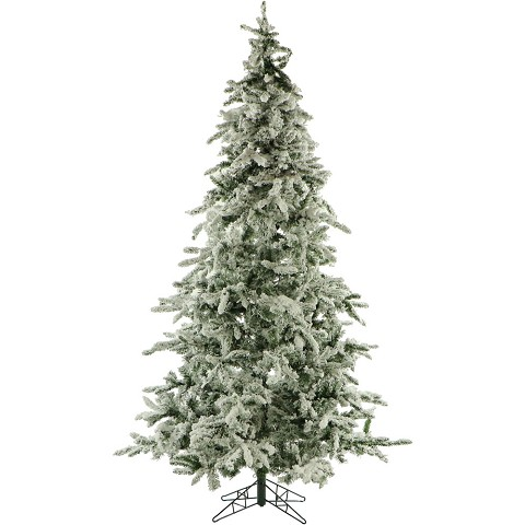 9 Ft. Flocked Mountain Pine Christmas Tree - FFMP090-0SN