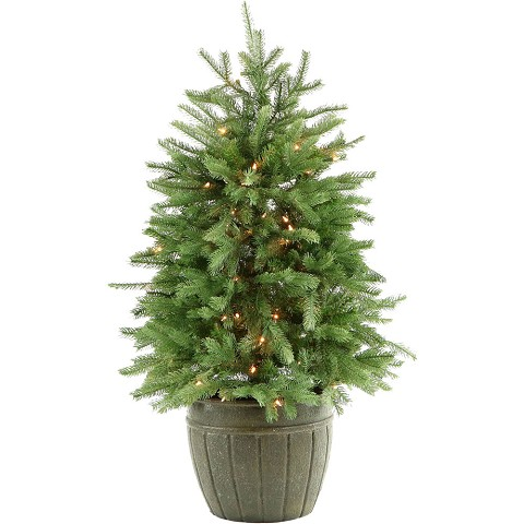 Fraser Hill Farm 4-Ft. Potted Pine Tree with Clear Lights - FFPP040-1GR