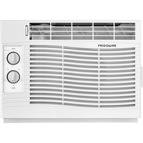 Frigidaire 5,000 BTU 115V Window-Mounted Mini-Compact Air Conditioner with Mechanical Controls, White - FFRA0511U1