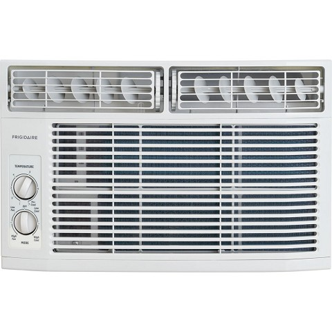 Frigidaire 6,000 BTU 115V Window-Mounted Mini-Compact Air Conditioner with Mechanical Controls, White - FFRA0611R1
