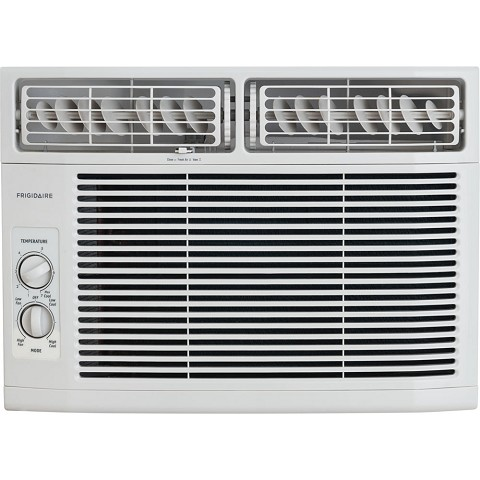 Frigidaire 10,000 BTU 115V Window-Mounted Compact Air Conditioner with Mechanical Controls, White - FFRA1011R1