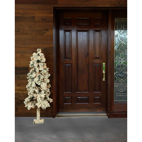 Fraser Hill Farm 2-Ft. Snowy Alpine Tree with Clear Lights - FFSA020-1SN