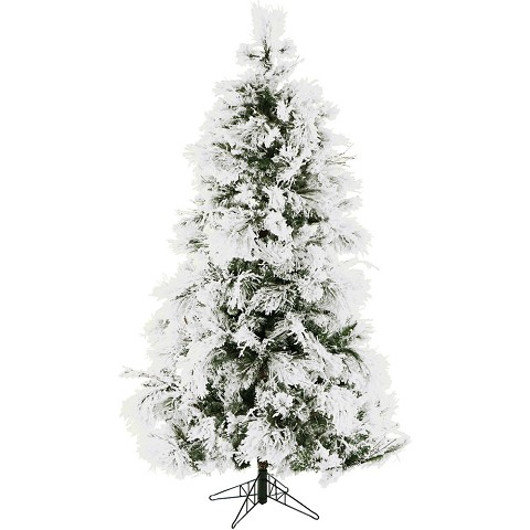 7.5 Ft. Flocked Snowy Pine Christmas Tree - FFSN075-0SN