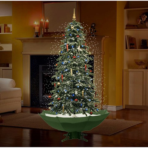Snowing Christmas Tree.Fraser Hill Farm 67 Snowing Musical Christmas Tree With Green Base And Snow Function Fstr067a Gn