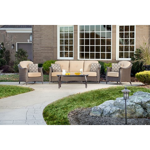 Gramercy 4PC Seating Set in Country Cork - GRAMERCY4PC