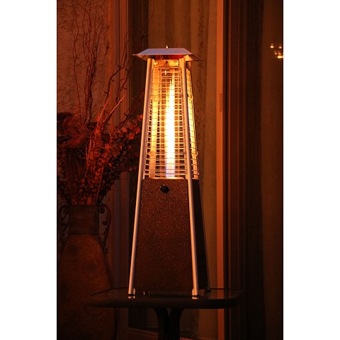Hanover Mini Pyramid Tabletop Propane Patio Heater in Hammered Bronze - HAN0202HB