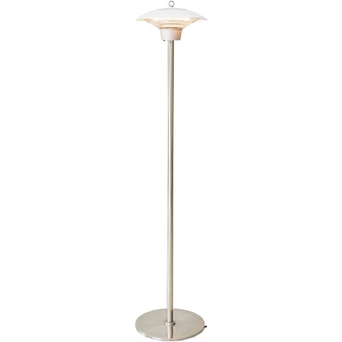 Hanover Electric Halogen Infrared Stand Heat Lamp, White, HAN1021HA-WHT
