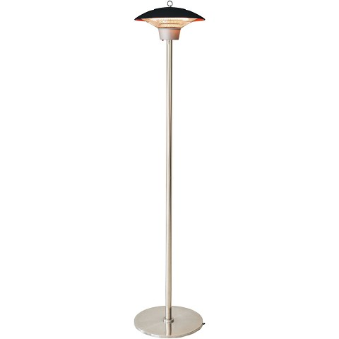 Hanover Electric Halogen Infrared Stand Heat Lamp, Black, HAN1022HA-BLK