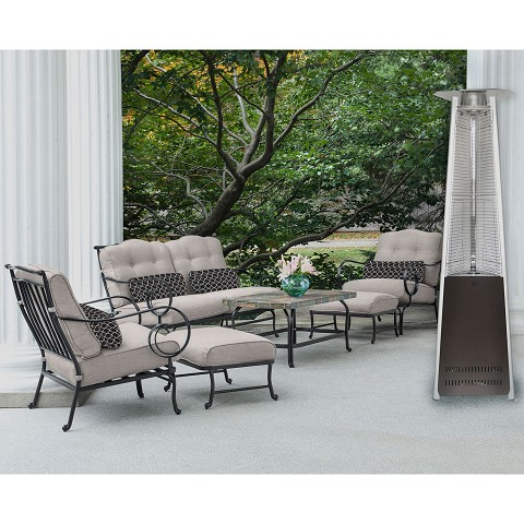 7 Ft. Propane Patio Heater in Hammered Bronze - HAN103BR