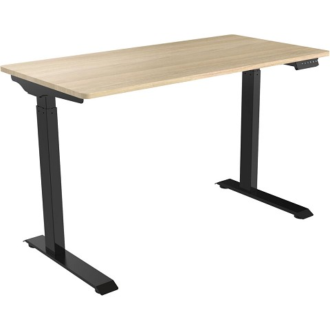 Hanover 47-In. Electric Sit or Stand Desk with Adjustable Heights, Natural, HSD0411-NAT