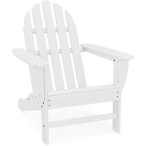 Hanover Classic All-Weather Adirondack Chair in White, HVAD4030WH