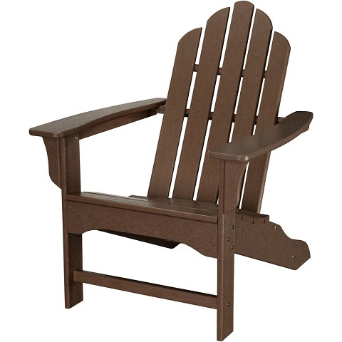 All-Weather Contoured Adirondack Chair in Mahogany - HVLNA10MA