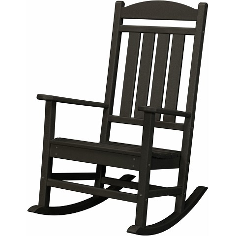 All-Weather Pineapple Cay Porch Rocker in Black - HVR100BL