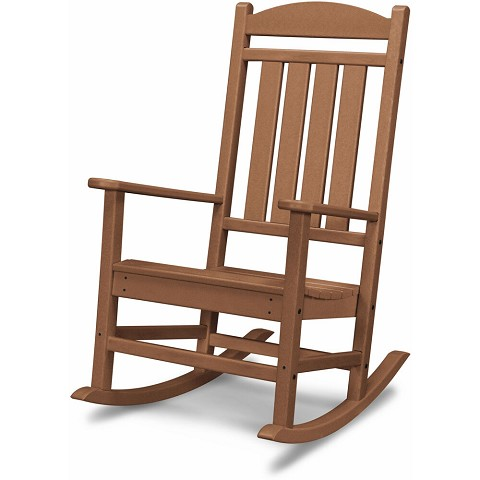 Hanover All-Weather Pineapple Cay Porch Rocker in Teak, HVR100TE