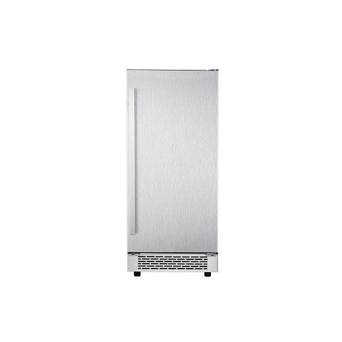"Cambridge Luxury Series 15"" Stainless Steel Undercounter Ice Maker with Reversible Door and Touch Controls, CCC60701-6SS"