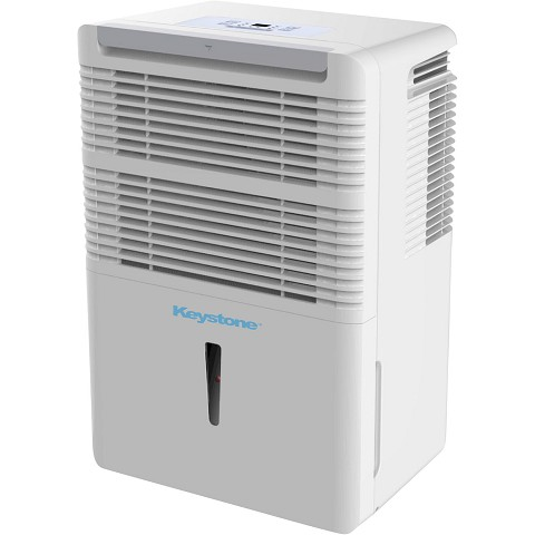 Keystone High Efficiency 50-Pint Dehumidifier with Electronic Controls in White, KSTAD50B